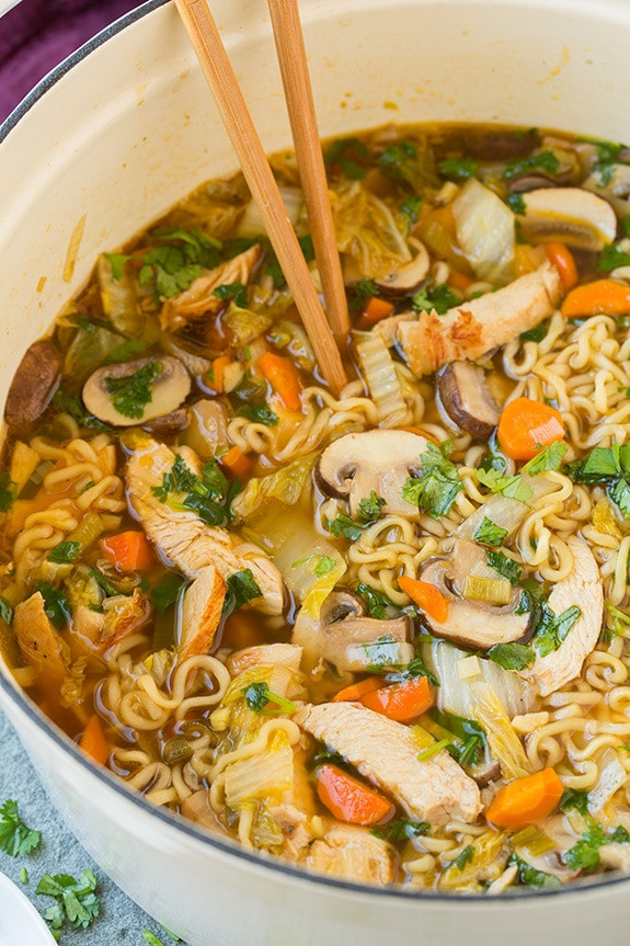 Chinese Noodle Soups Recipes  Asian Chicken Noodle Soup Cooking Classy