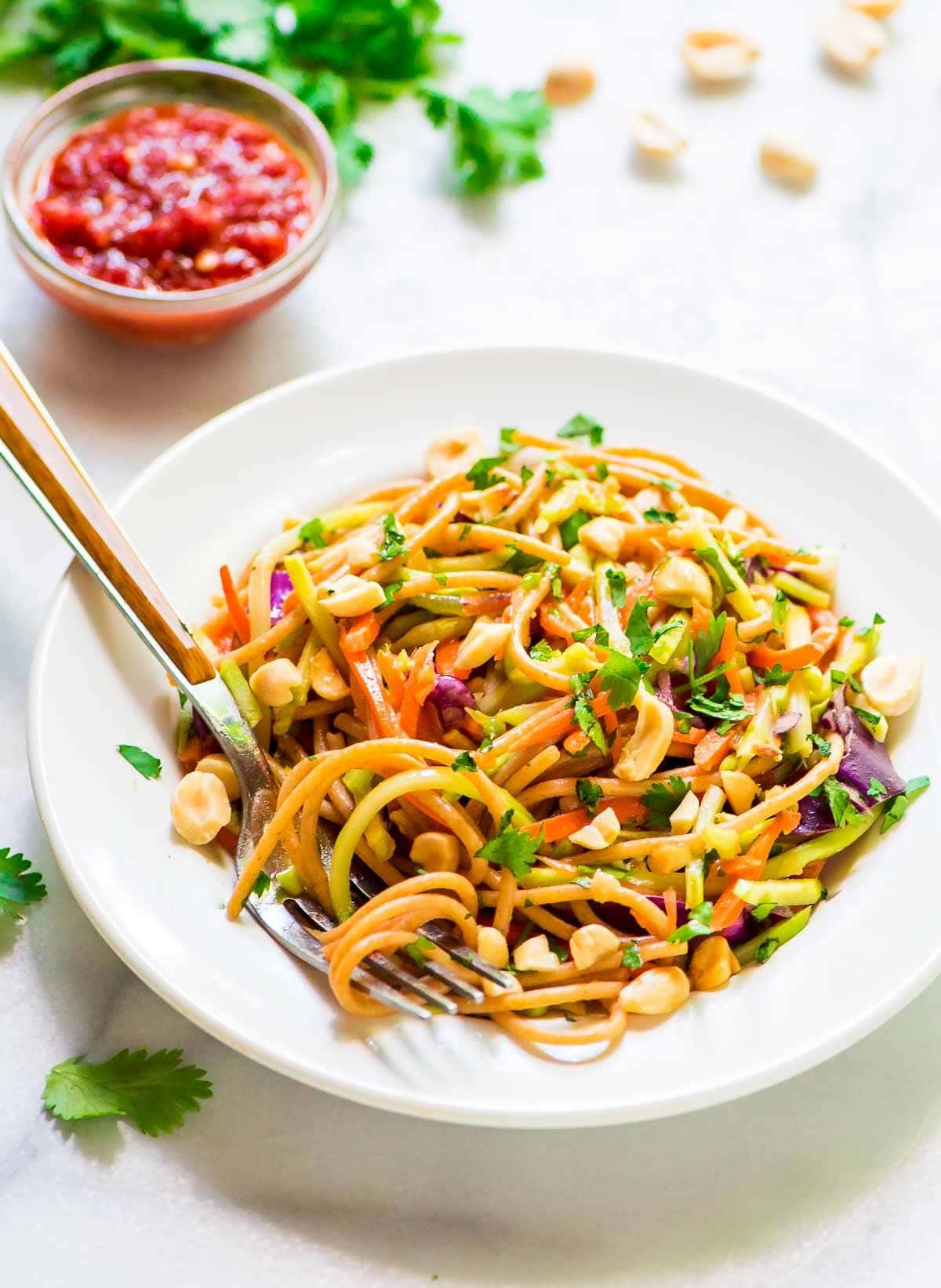 Chinese Salads Recipes  Asian Noodle Salad with Creamy Peanut Dressing