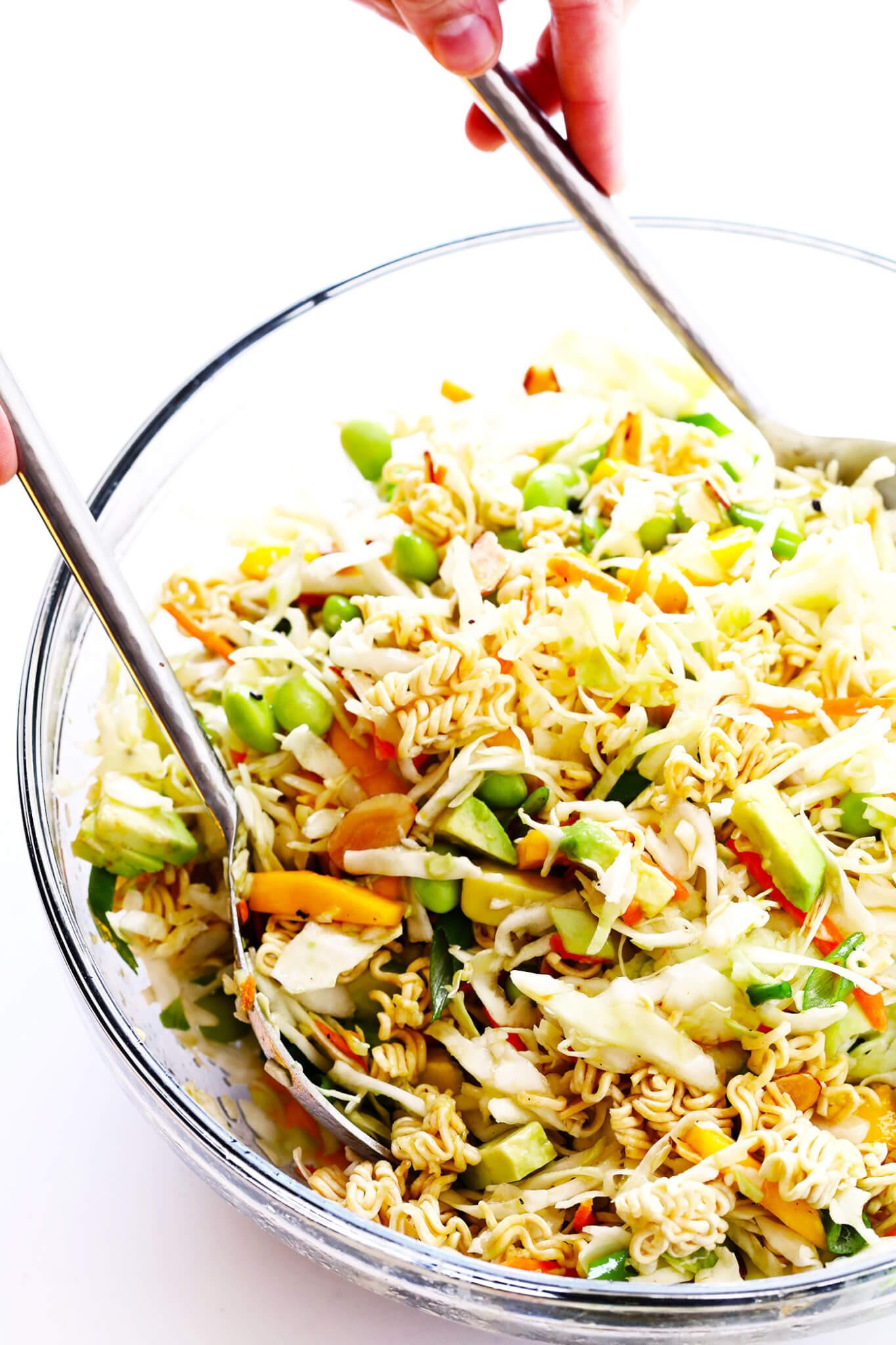 Chinese Salads Recipes  Crunchy Asian Ramen Noodle Salad