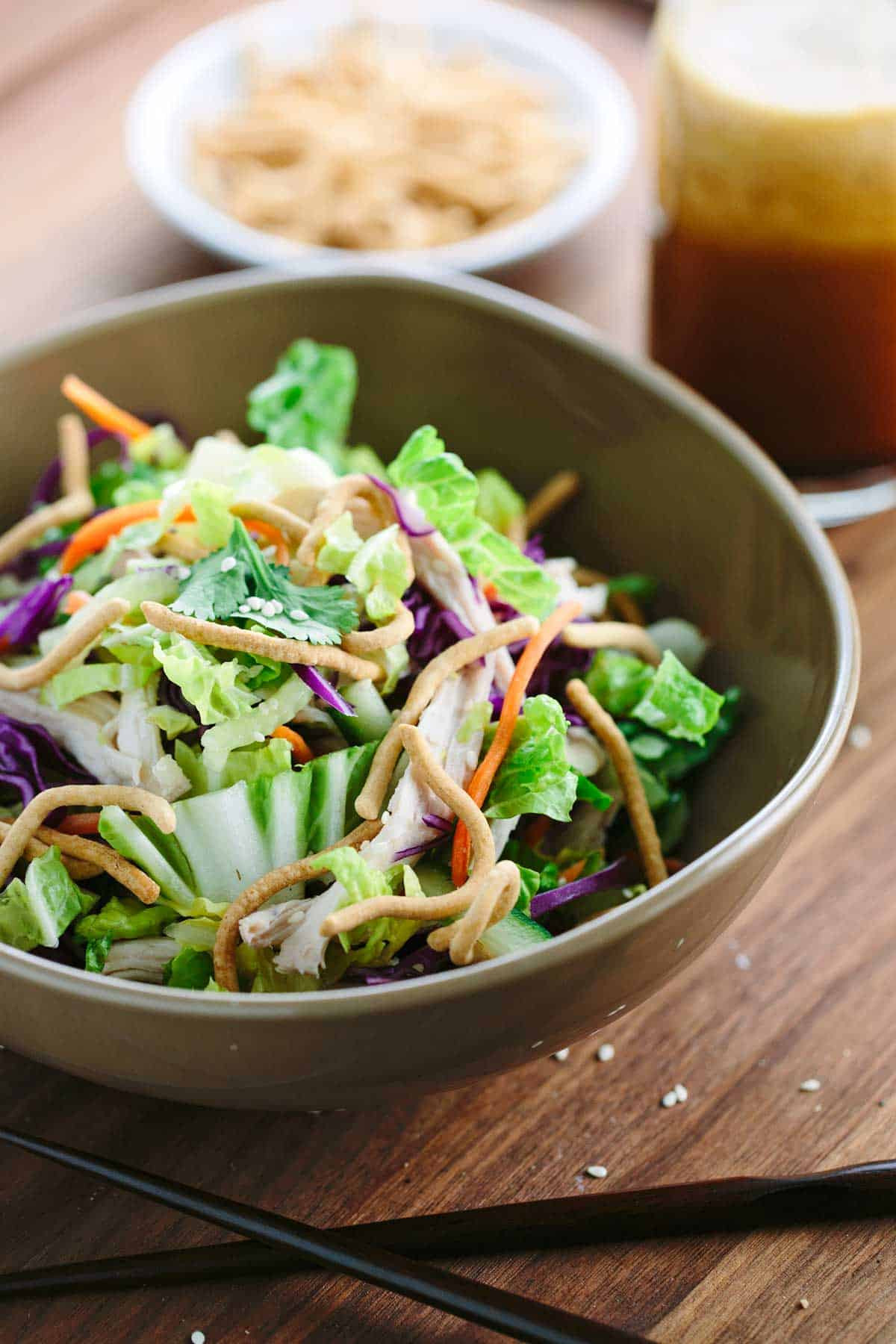 Chinese Salads Recipes  Chinese Chicken Salad with Vinaigrette Dressing