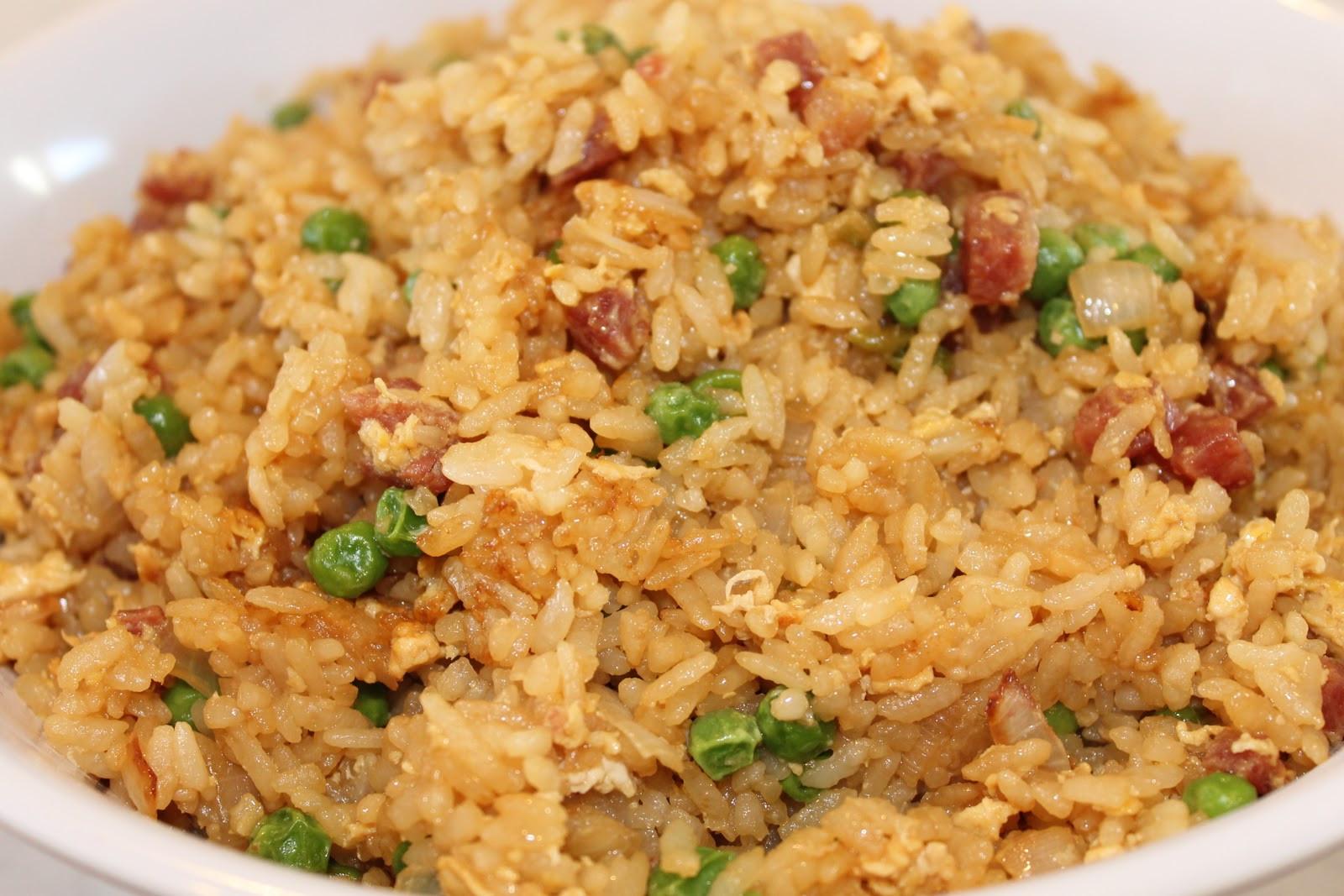 Chinese Sausage Fried Rice  Mélange Basic Chinese Sausage Fried Rice