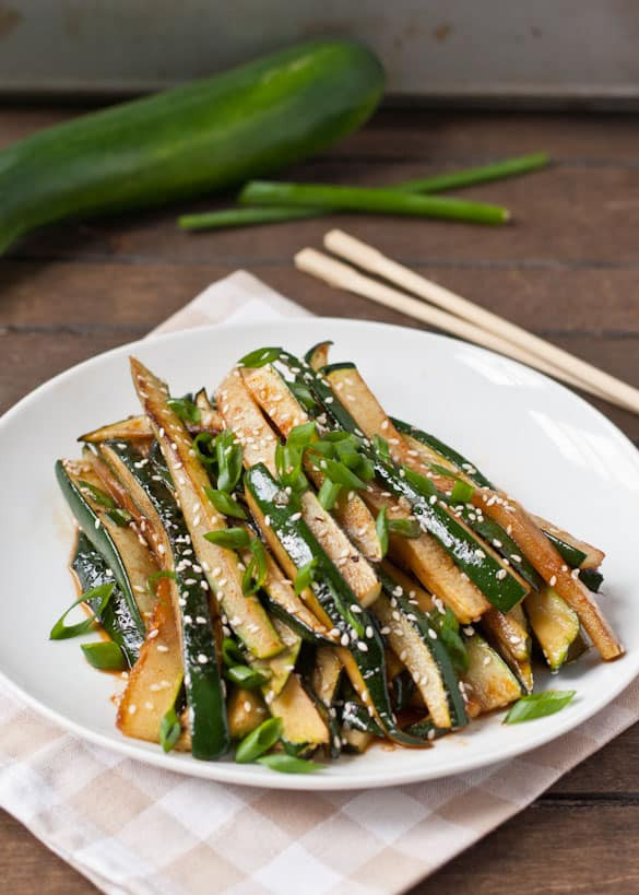 Chinese Side Dishes  Spicy Asian Zucchini Side Dish