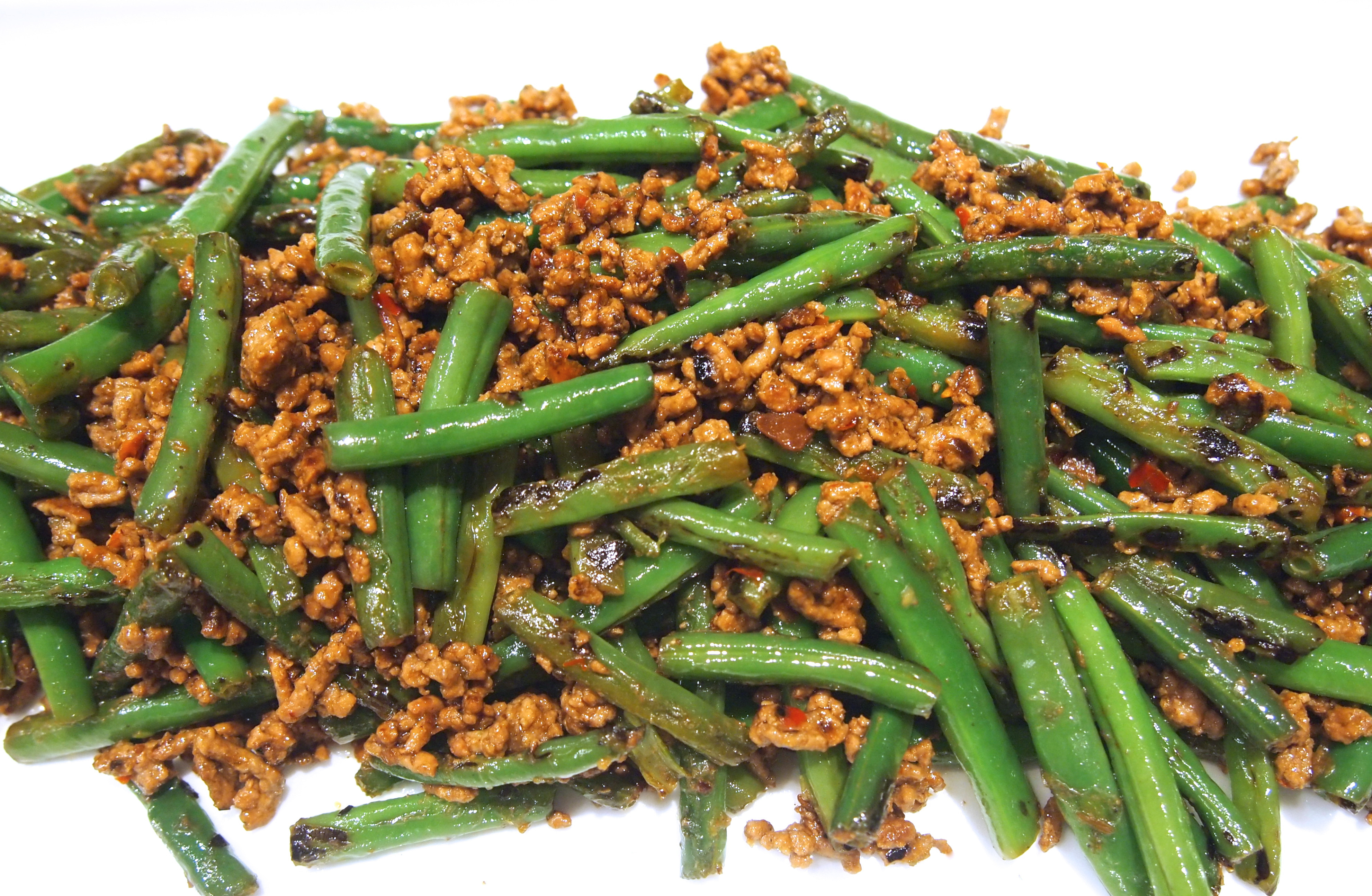 Chinese Side Dishes  Szechuan Green Beans with Spicy Mince