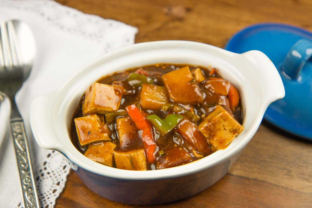Chinese Tofu Recipes  Kung Pao Tofu With Ve ables Recipe by Archana s Kitchen