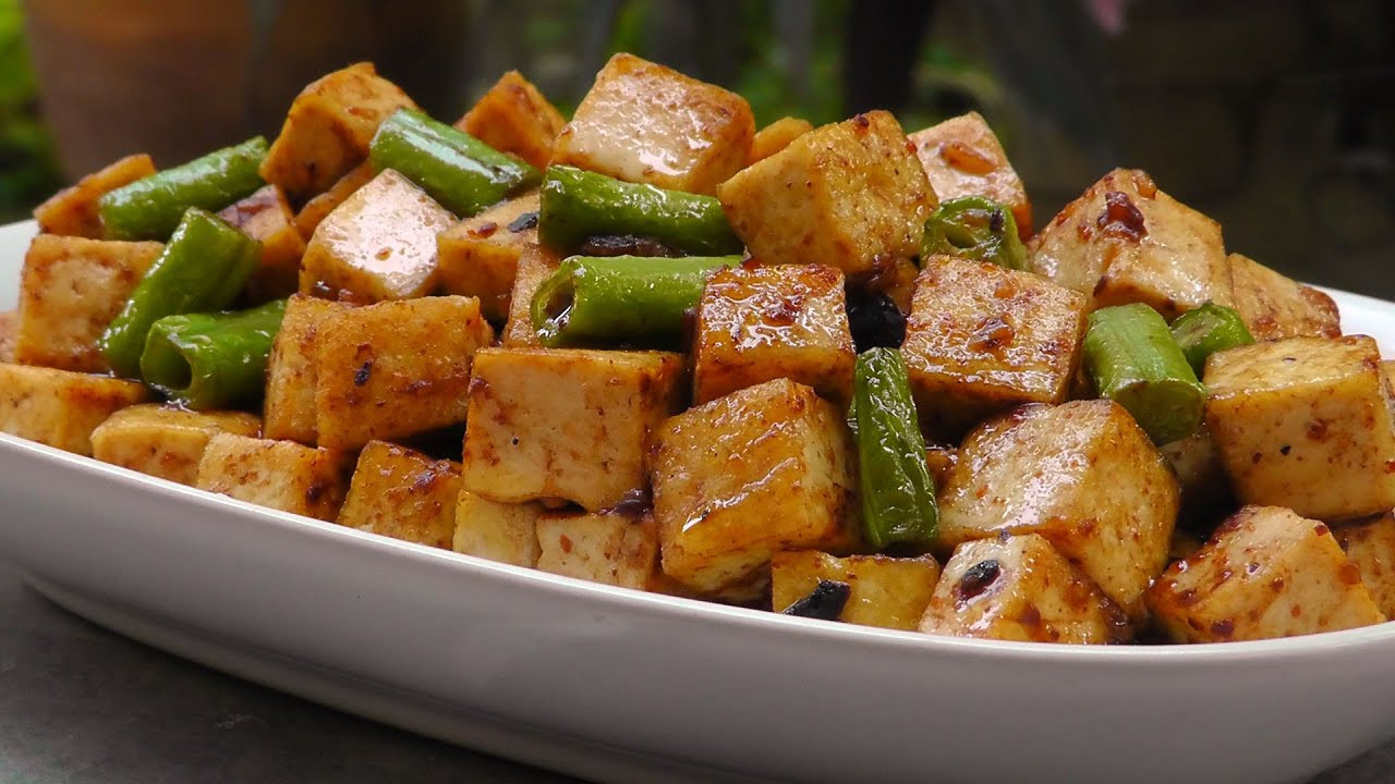 Chinese Tofu Recipes  Chinese Tofu in Black Bean Sauce Vegan Ve arian Recipe