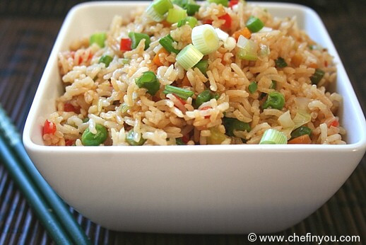 Chinese Vegetable Fried Rice  Ve able Fried Rice Recipe