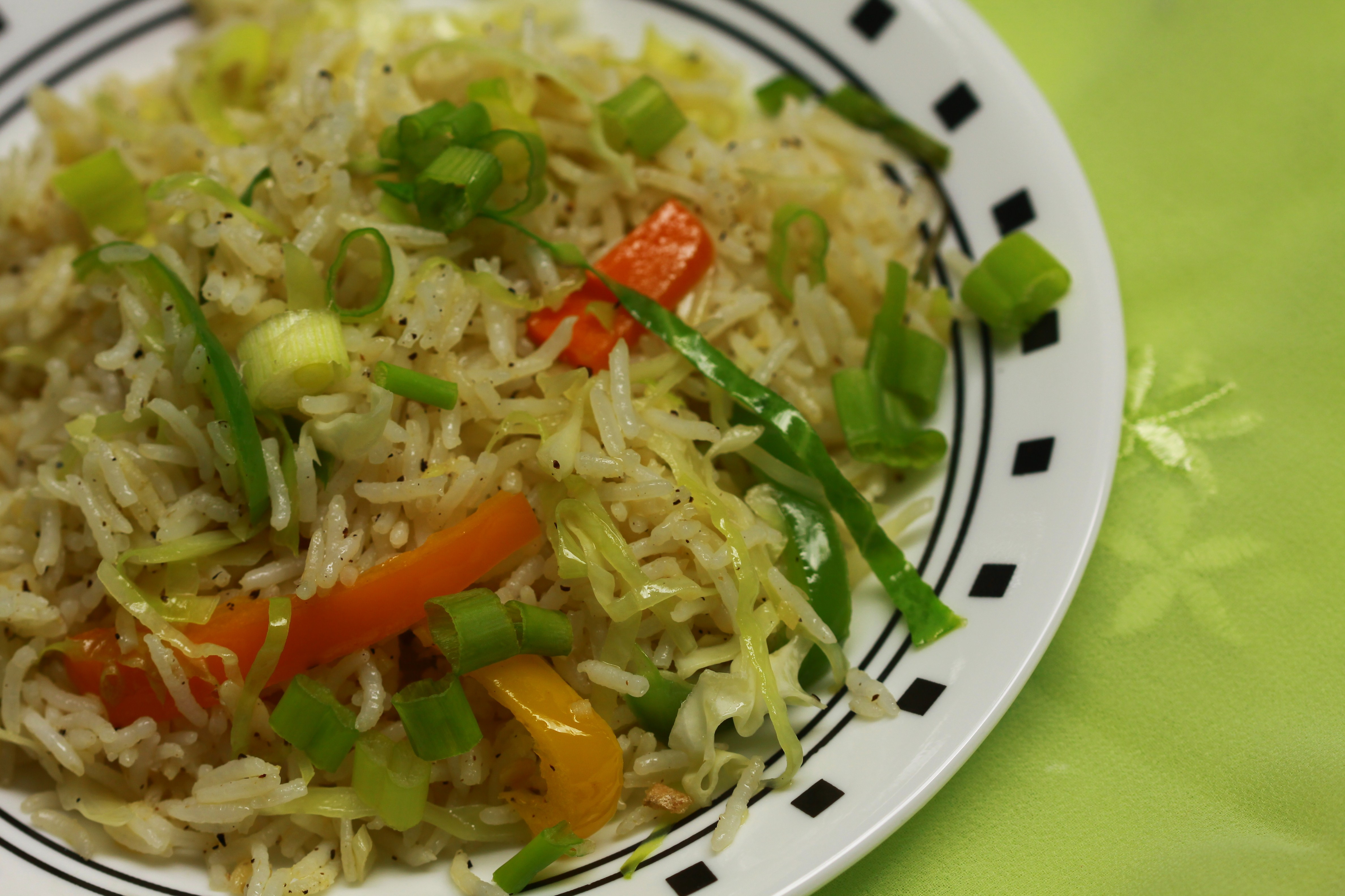 Chinese Vegetable Fried Rice  Restaurant Style Indo Chinese Veggie Fried Rice