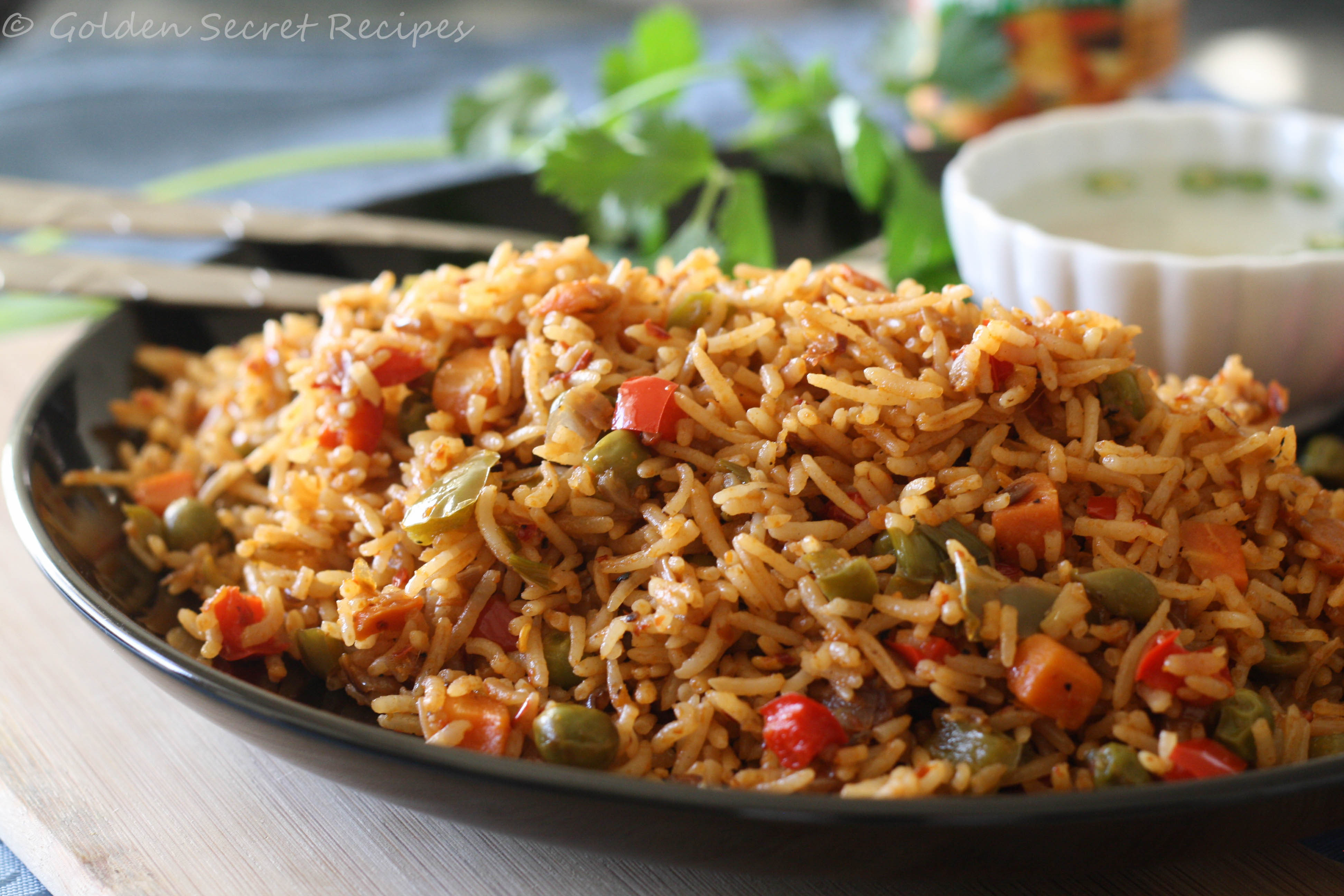 Chinese Vegetable Fried Rice  Veg chinese fried rice
