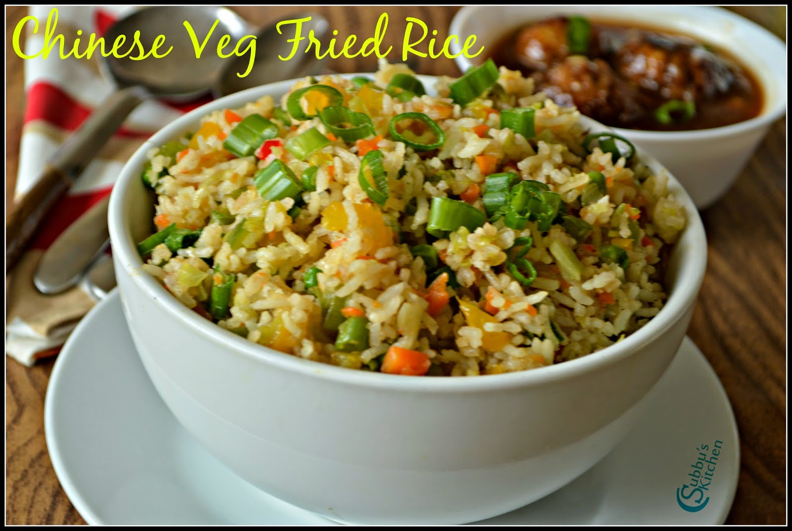 Chinese Vegetable Fried Rice  Chinese Ve able Fried Rice Recipe Subbus Kitchen