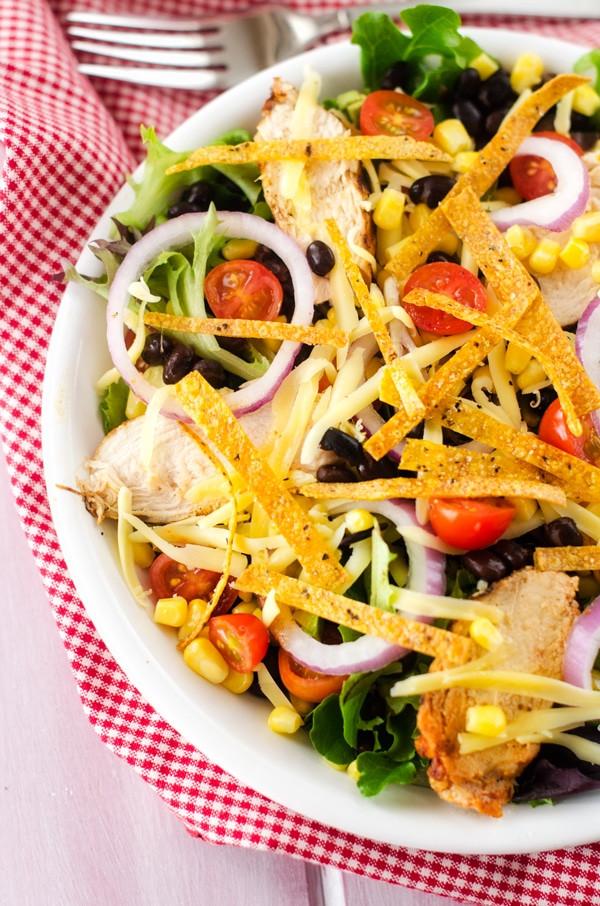 Chipotle Chicken Salad  Grilled Chipotle Chicken Tortilla Salad Wendy Polisi