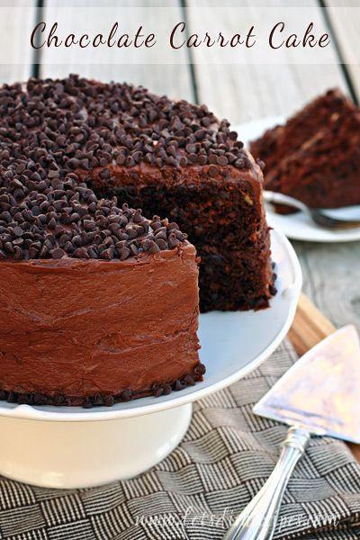 Choclate Carrot Cake  Chocolate Carrot Cake on MyRecipeMagic