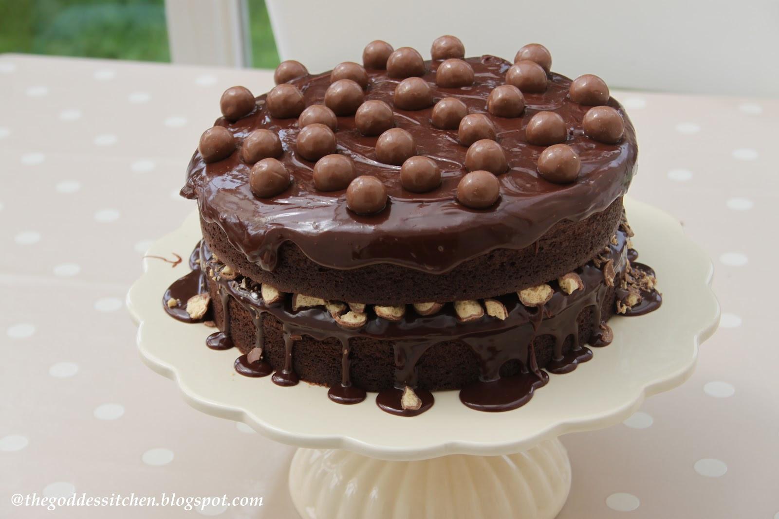 Chocolate Birthday Cake  The Goddess s Kitchen ♥ Chocolate Birthday Cake