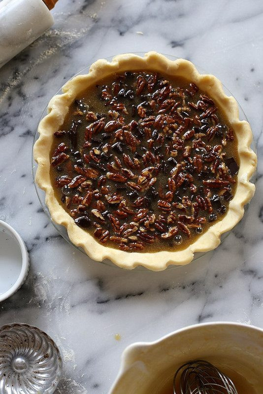 Chocolate Bourbon Pecan Pie  Bourbon Pecan Pie with Dark Chocolate