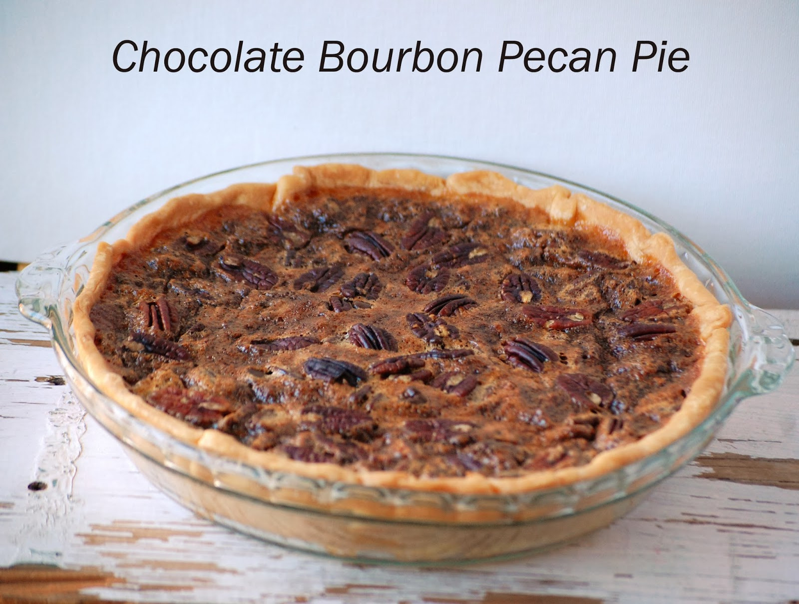 Chocolate Bourbon Pecan Pie  Violet s Buds Chocolate Bourbon Pecan Pie Recipe