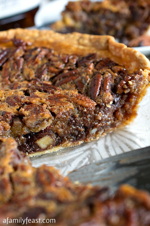 Chocolate Bourbon Pecan Pie  Chocolate Bourbon Pecan Pie A Family Feast