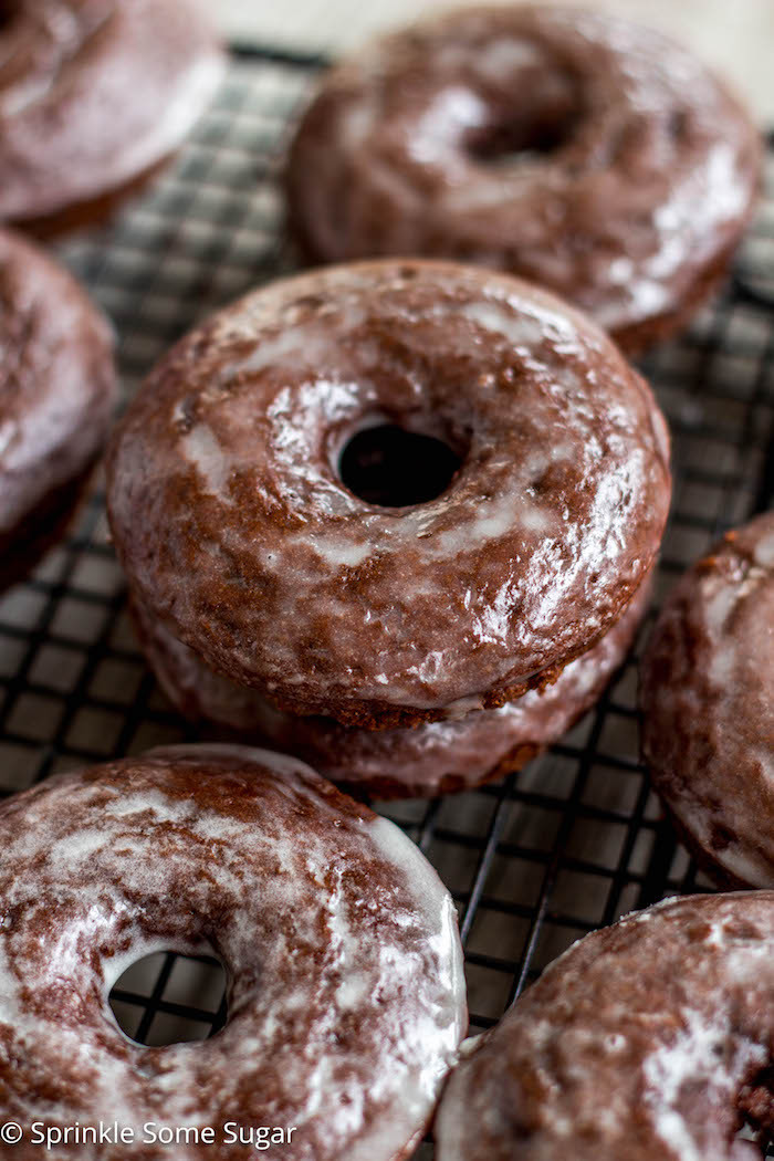Chocolate Cake Donuts Recipes  Glazed Chocolate Cake Donuts Sprinkle Some Sugar