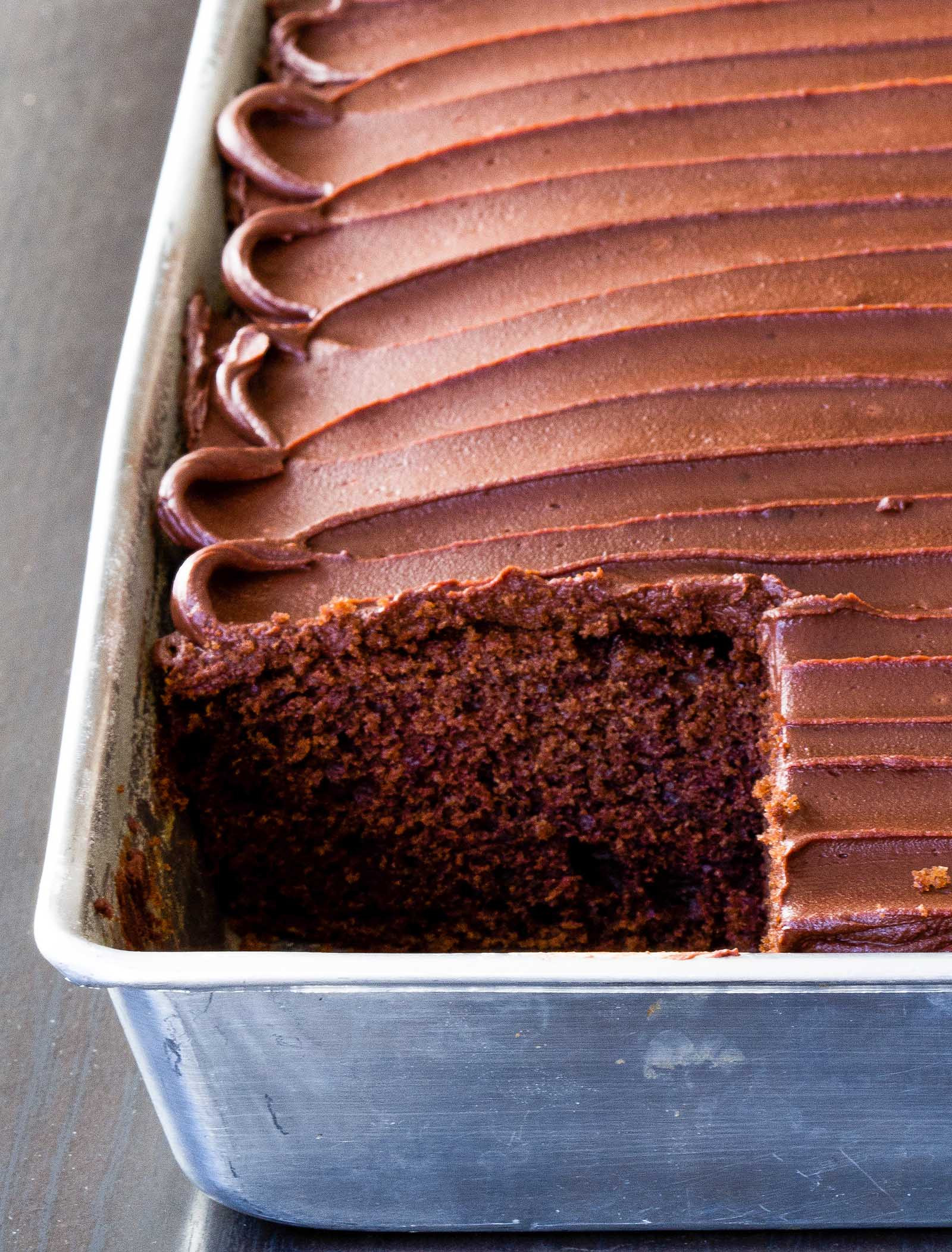Chocolate Cake Ingredients  Chocolate Sour Cream Cake Homemade Frosting