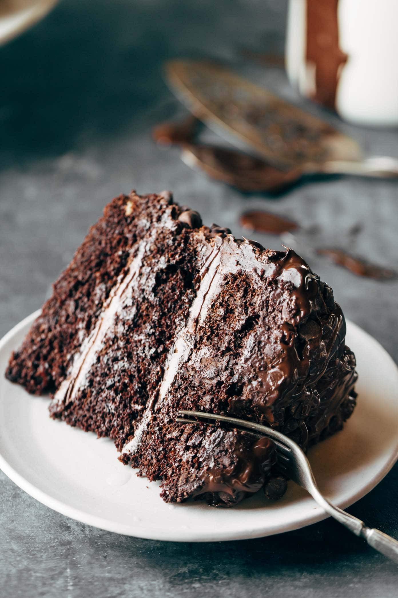 Chocolate Cake Ingredients  Blackout Chocolate Cake Recipe Pinch of Yum