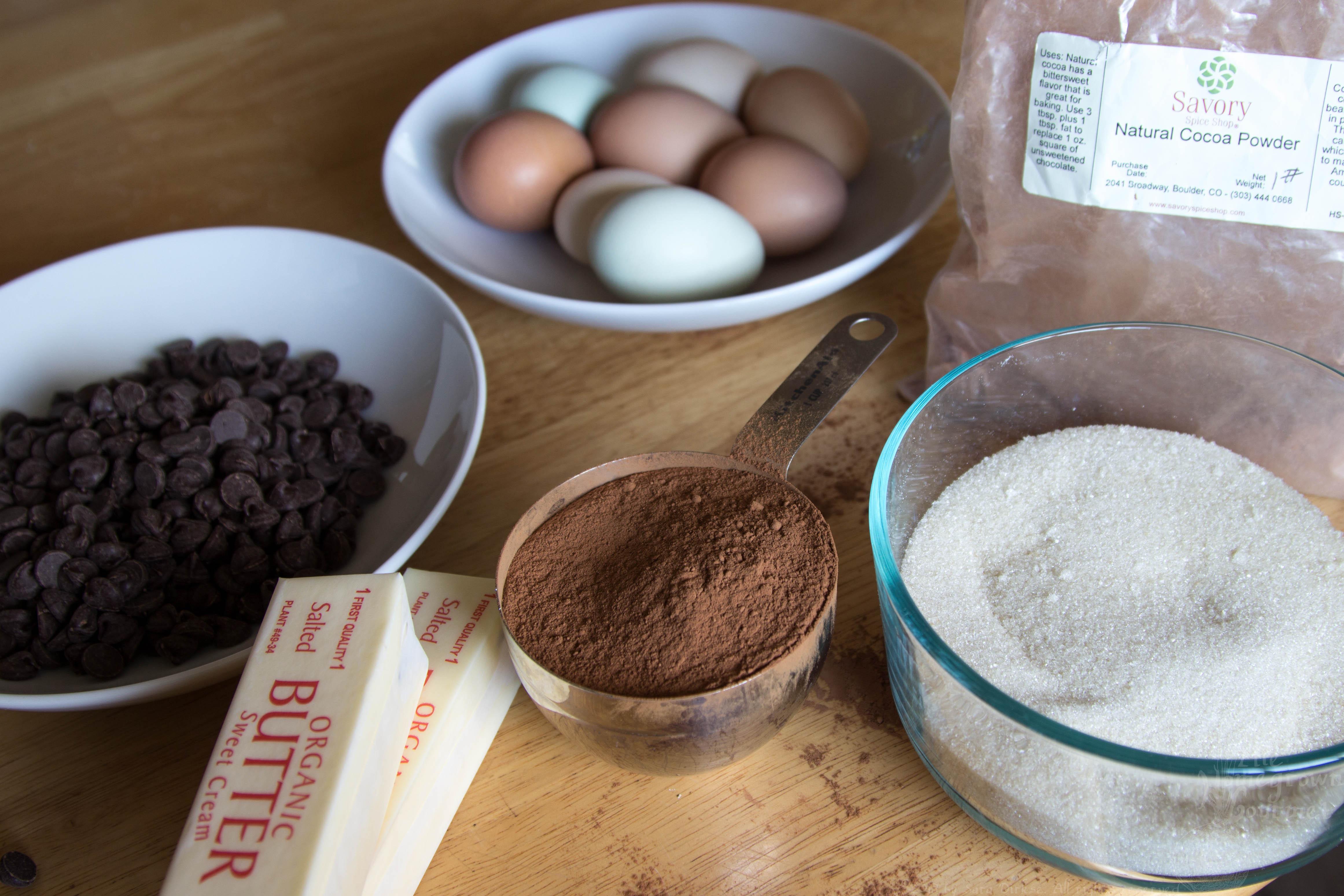 Chocolate Cake Ingredients  Flourless Chocolate Cake with Raspberry Sauce The