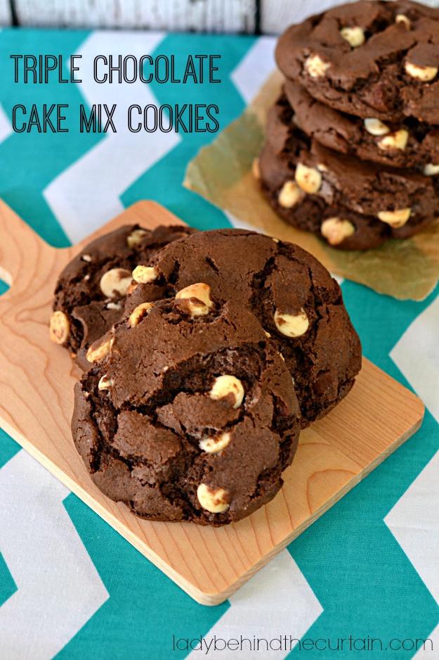 Chocolate Cake Mix Recipes  Triple Chocolate Cake Mix Cookies