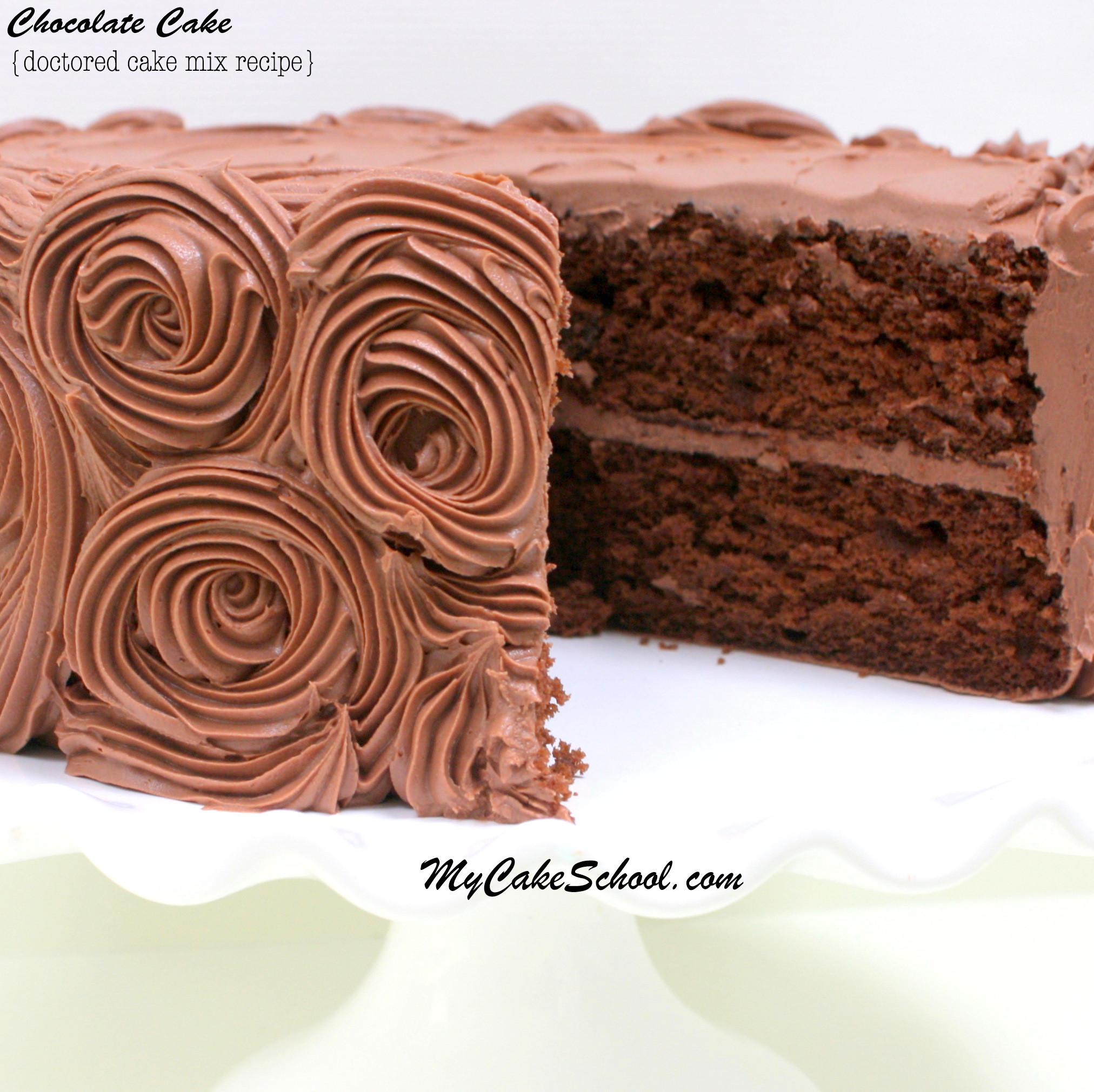 Chocolate Cake Mix Recipes  Chocolate Cake A Doctored Mix Recipe