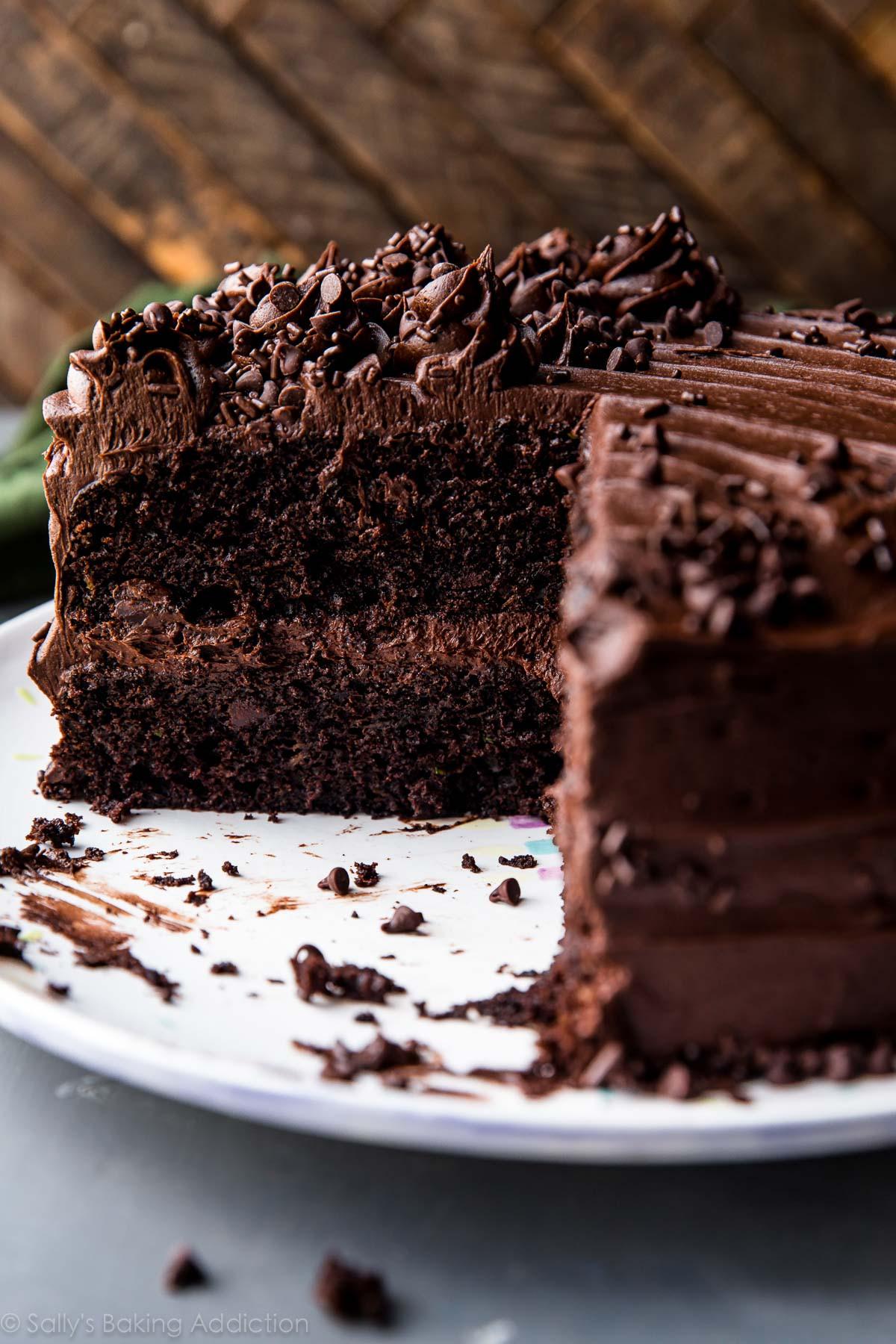 Chocolate Cake Recipe  Chocolate Zucchini Cake Sallys Baking Addiction