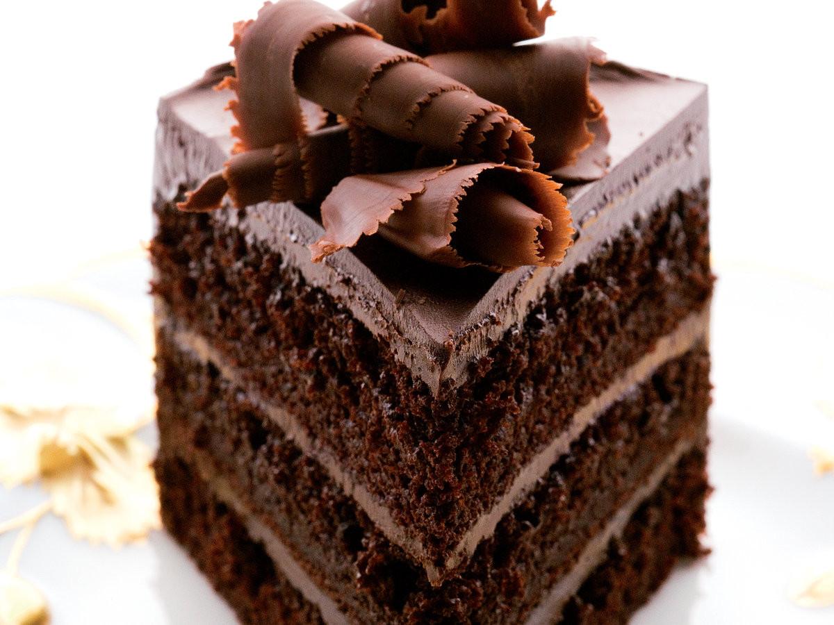 Chocolate Cake Recipe  Fudgy Chocolate Layer Cake Recipe Andrew Shotts