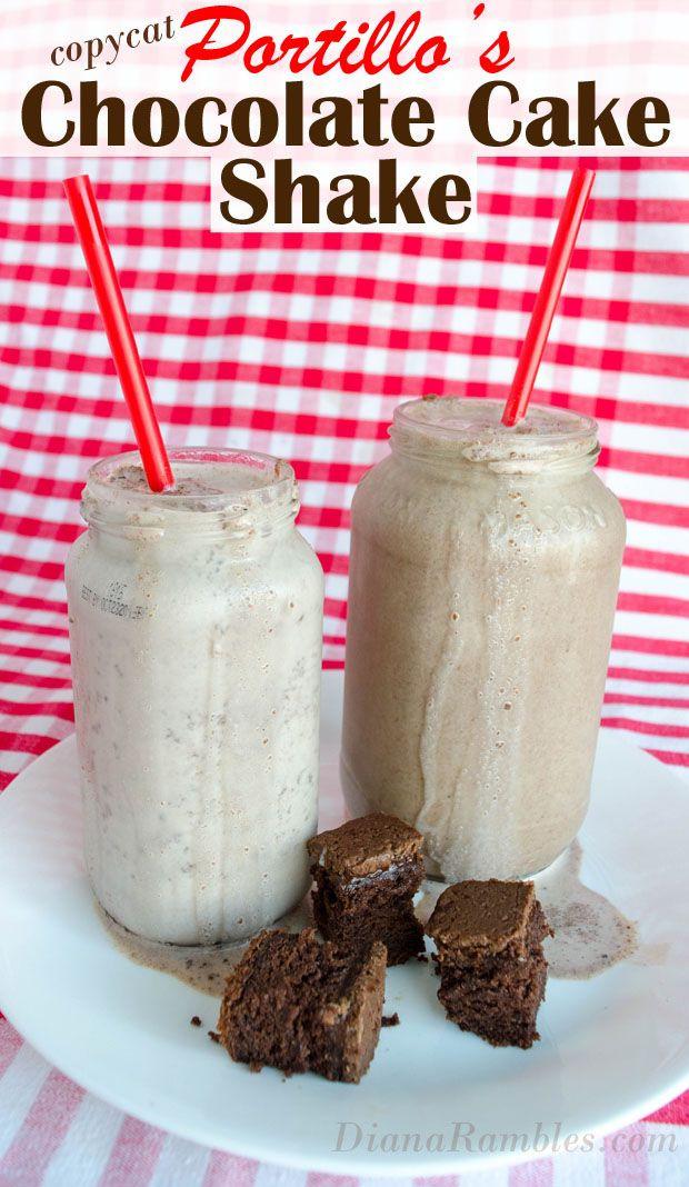 Chocolate Cake Shake Portillo'S  Best 25 How to make milkshake ideas on Pinterest