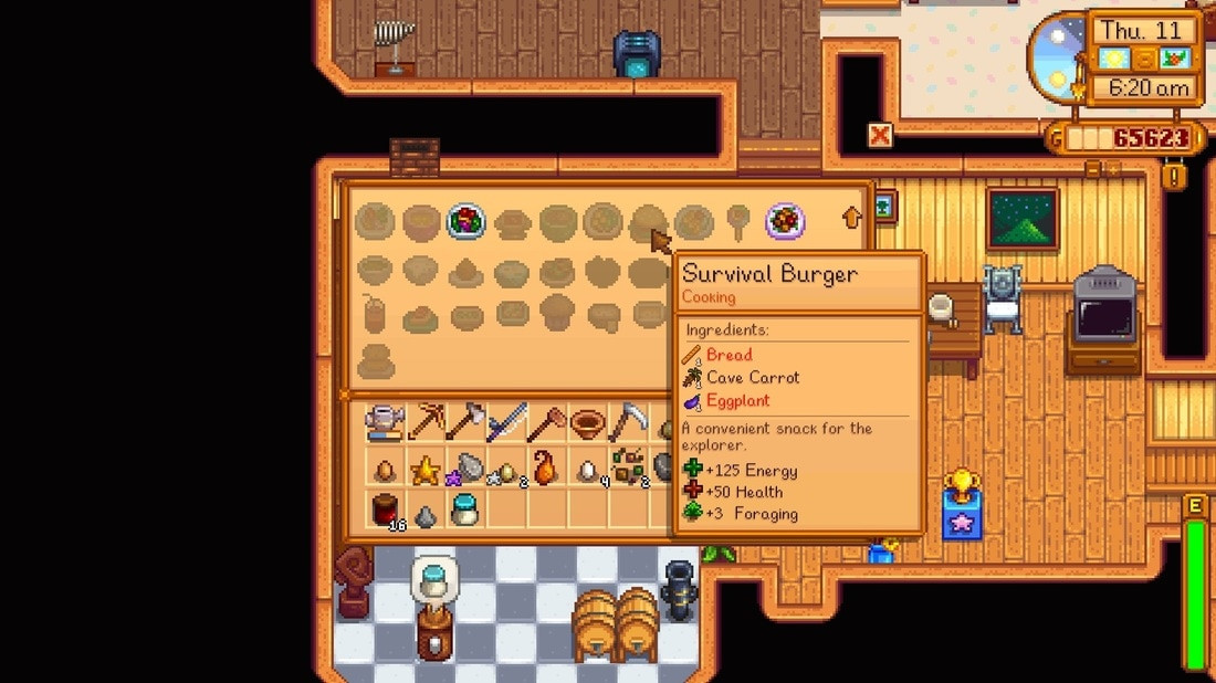 Chocolate Cake Stardew Valley  Survival Burger Under Geared & Over Cooked