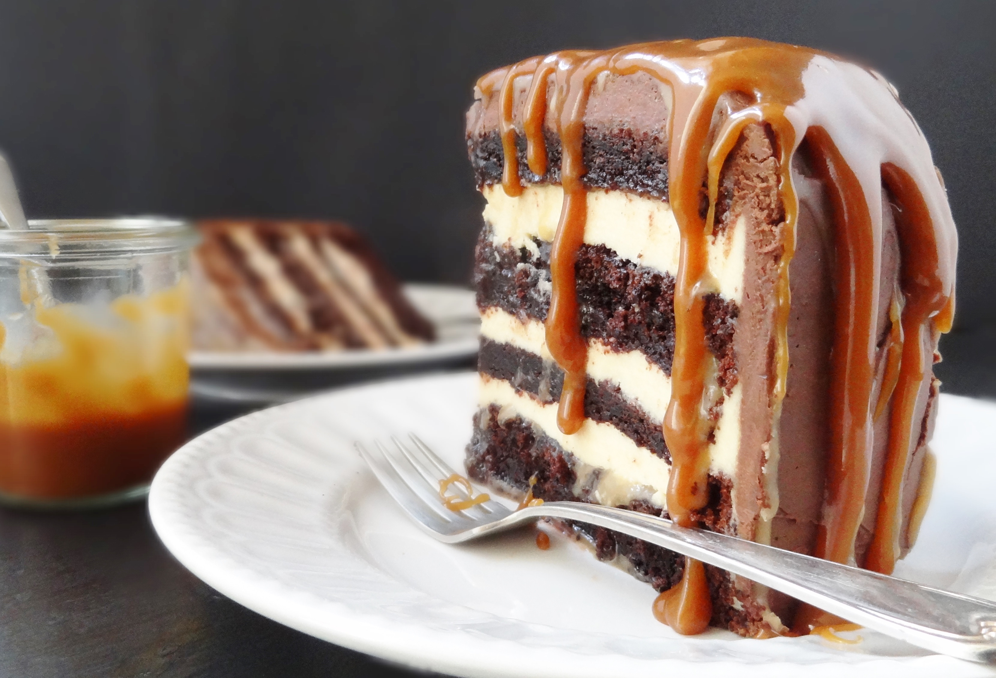 Chocolate Caramel Cake  Salted Caramel Chocolate Fudge Cake Domestic Gothess