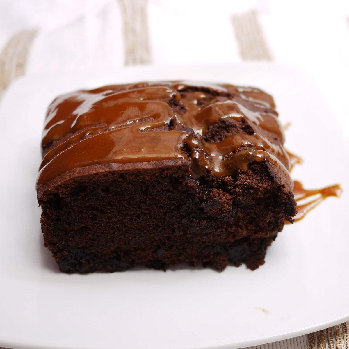Chocolate Caramel Cake  Caramel Drenched Chocolate Loaf