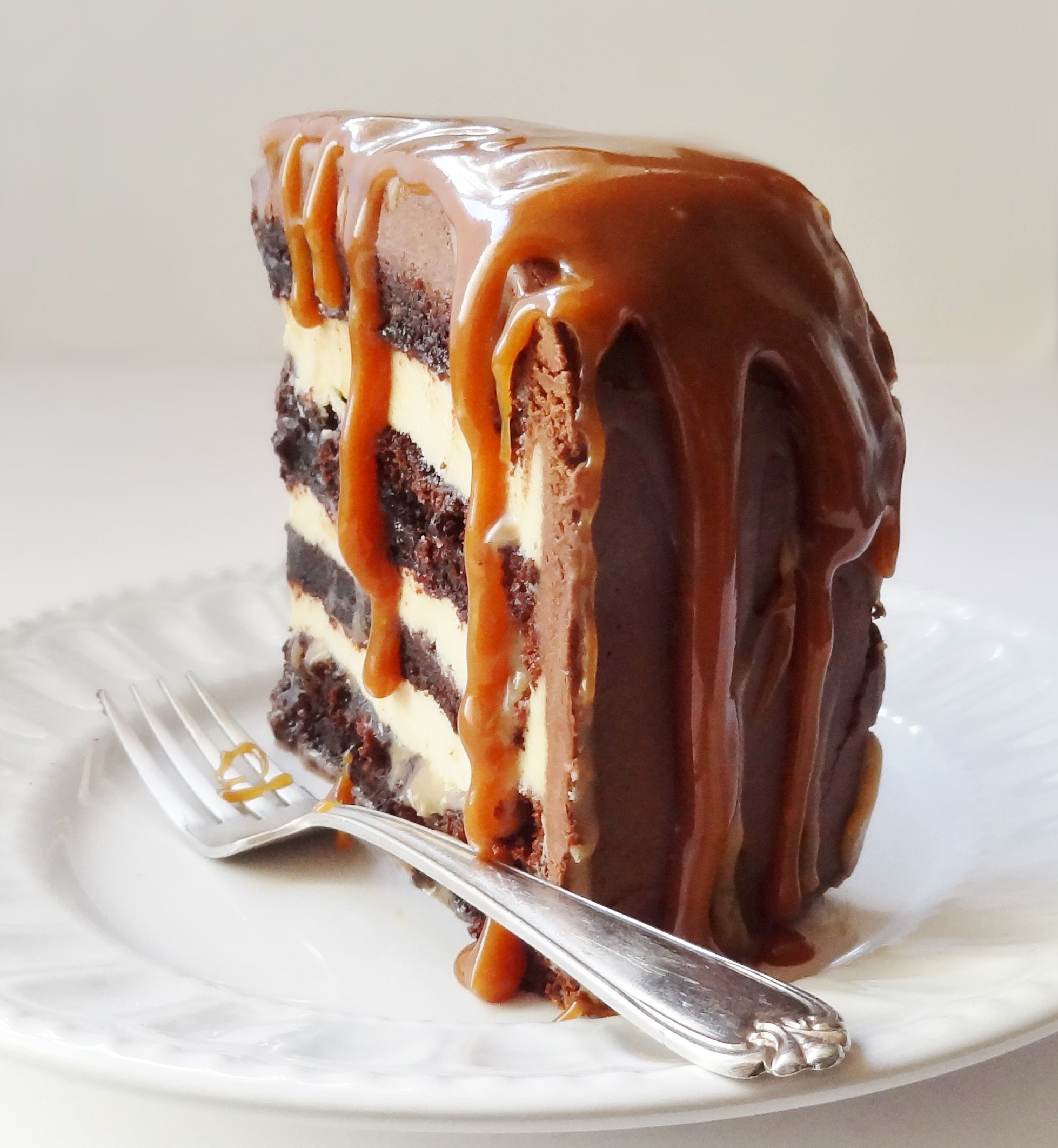 Chocolate Caramel Desserts  Salted Caramel Chocolate Fudge Cake Domestic Gothess
