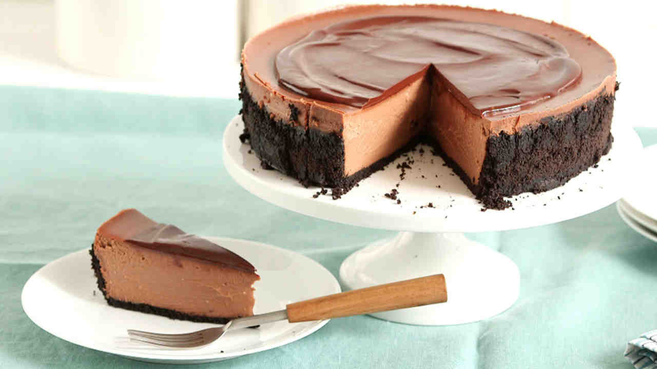 Chocolate Cheese Cake  decadent triple chocolate cheesecake recipe