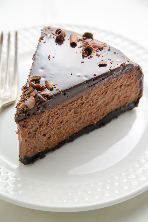 Chocolate Cheese Cake  Kahlua Chocolate Cheesecake Baker by Nature