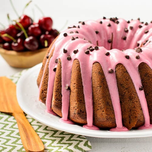 Chocolate Cherry Bundt Cake  Cherry Chocolate Chip Bundt Cake