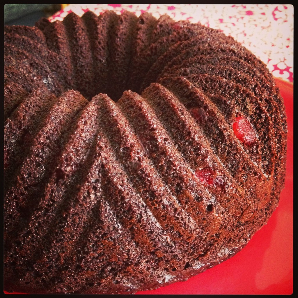 Chocolate Cherry Bundt Cake  Chocolate Cherry Bundt Cake BundtaMonth