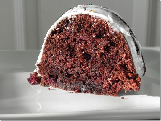 Chocolate Cherry Bundt Cake  Chocolate Cherry Bundt Cake BundtaMonth Savoring Italy