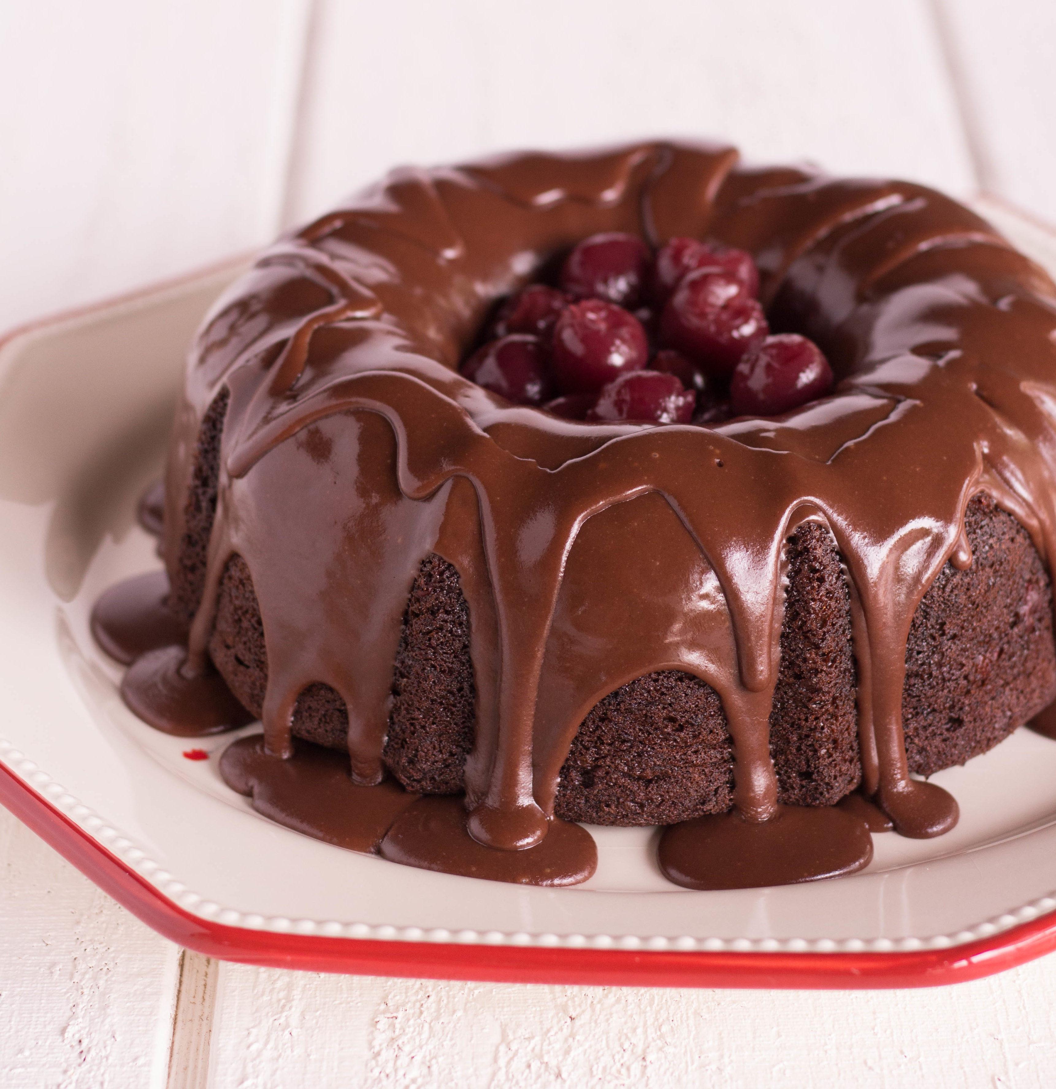 Chocolate Cherry Bundt Cake  Grandma Delilah s Chocolate Cherry Bundt Cake with