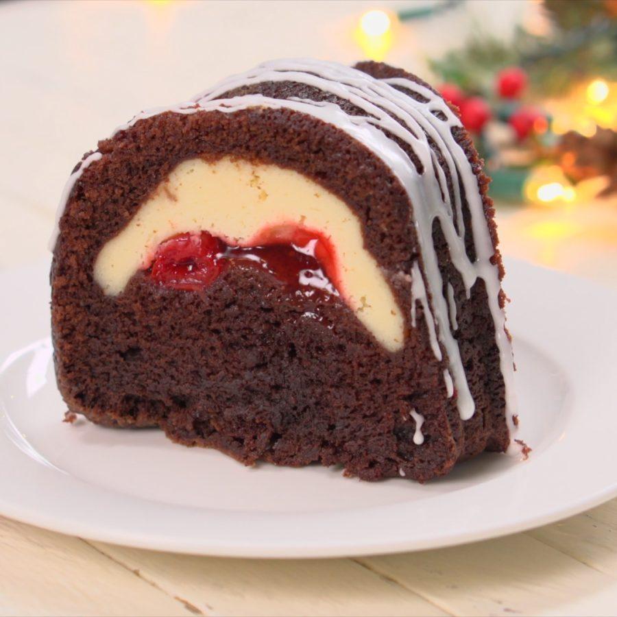Chocolate Cherry Bundt Cake  Cherry Cheesecake Chocolate Bundt Cake