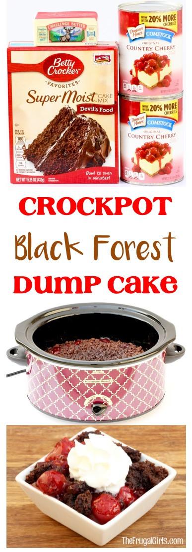 Chocolate Cherry Dump Cake  Crock Pot Chocolate Cherry Dump Cake Recipe Black Forest