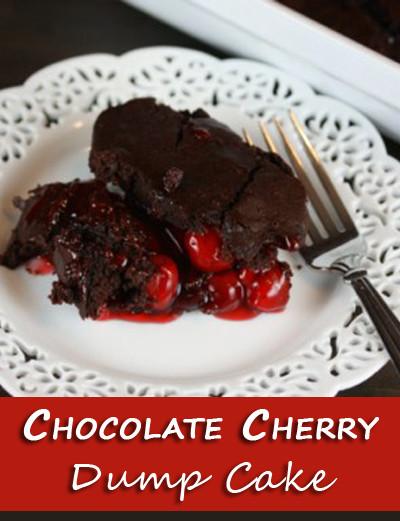 Chocolate Cherry Dump Cake  Chocolate Cherry Dump Cake The Happy Housewife™ Cooking