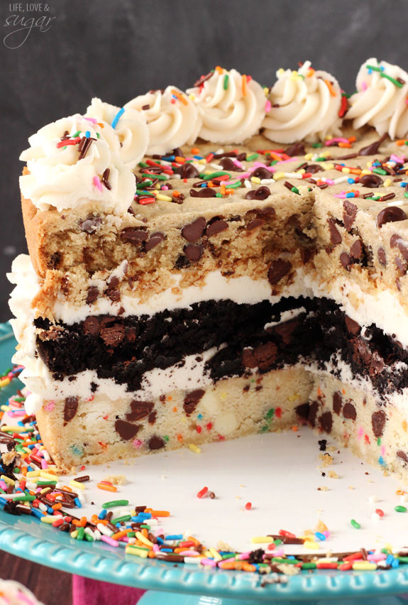 Chocolate Chip Cookie Cake  Ultimate Chocolate Chip Cookie Layer Cake Life Love and
