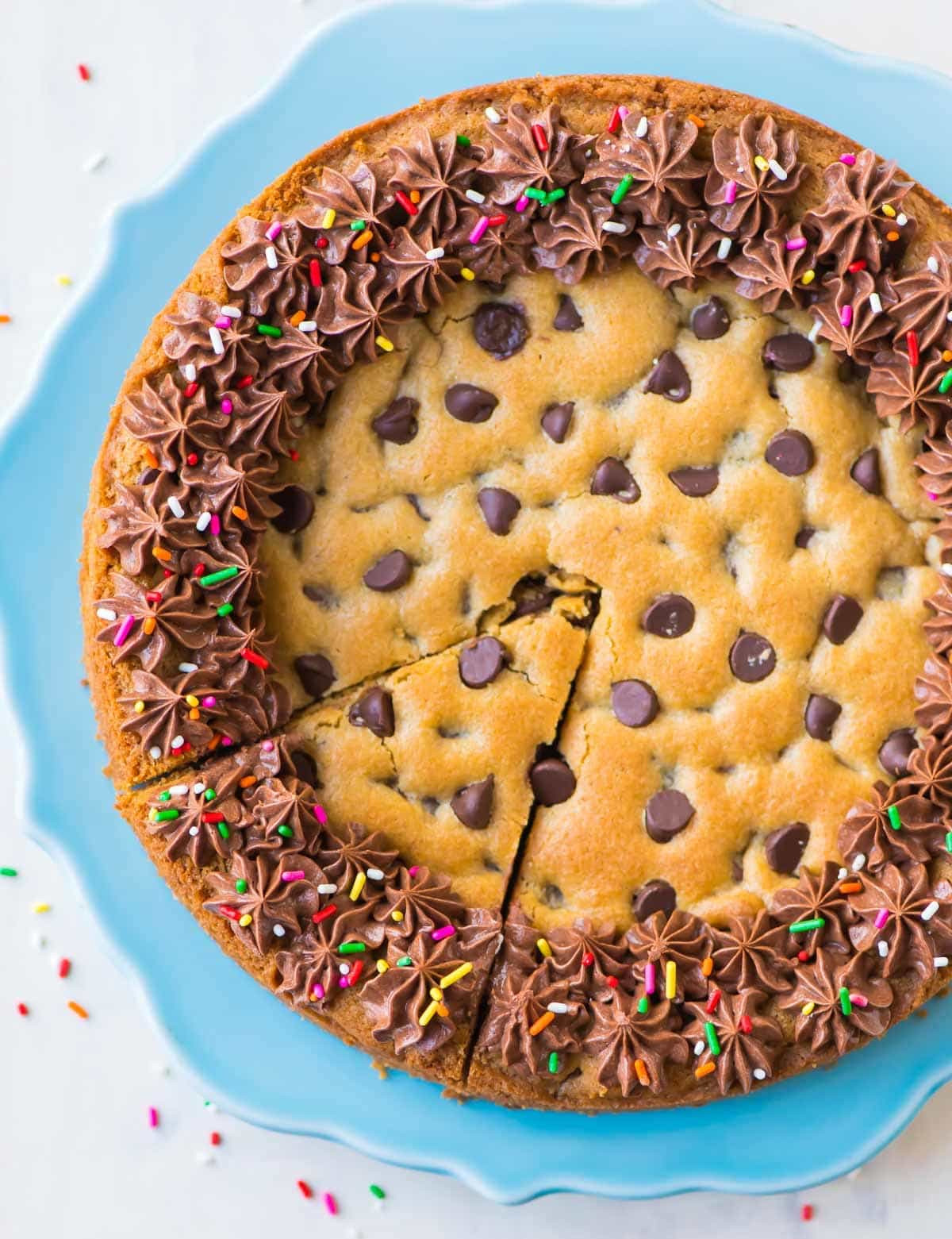 Chocolate Chip Cookie Cake  Chocolate Chip Cookie Cake with Chocolate Fudge Frosting