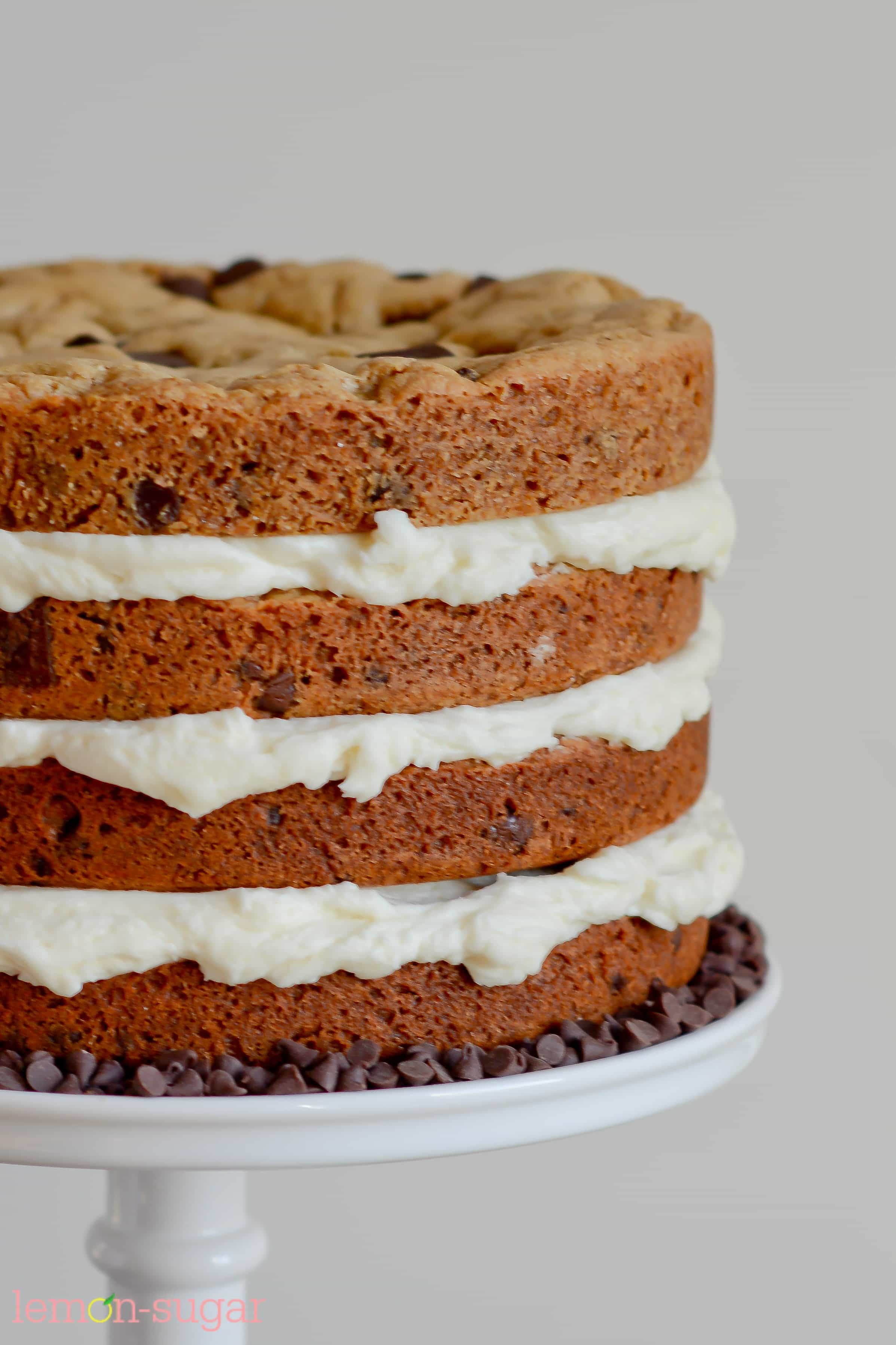 Chocolate Chip Cookie Cake  Chocolate Chip Cookie Layer Cake Lemon Sugar