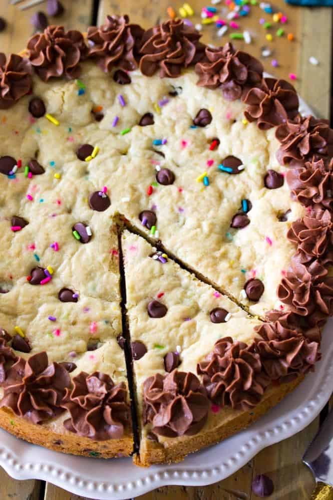 Chocolate Chip Cookie Cake  Big Frosted Cookie Cake Sugar Spun Run