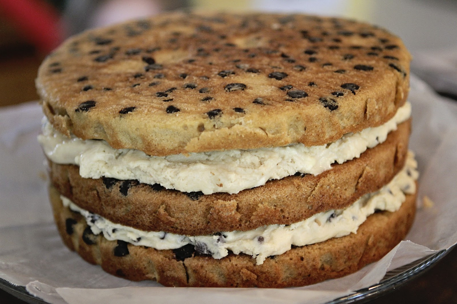 Chocolate Chip Cookie Cake  Suppers at Sunset Chocolate Chip Cookie Dough Layer cake
