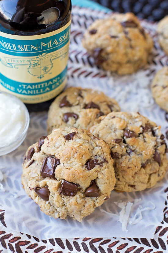 Chocolate Chip Cookies With Coconut Oil  Coconut Oil Oatmeal Chocolate Chip Cookies Life Made Simple