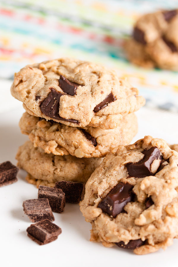 Chocolate Chip Cookies With Coconut Oil  Coconut Oil Oatmeal Chocolate Chip Cookies