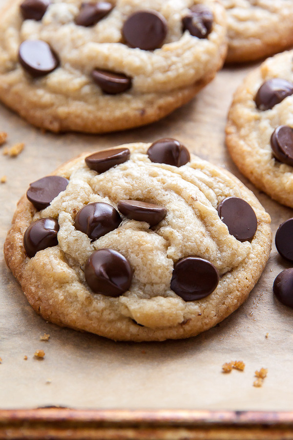 Chocolate Chip Cookies With Coconut Oil  Thick and Chewy Coconut Oil Chocolate Chip Cookies Baker