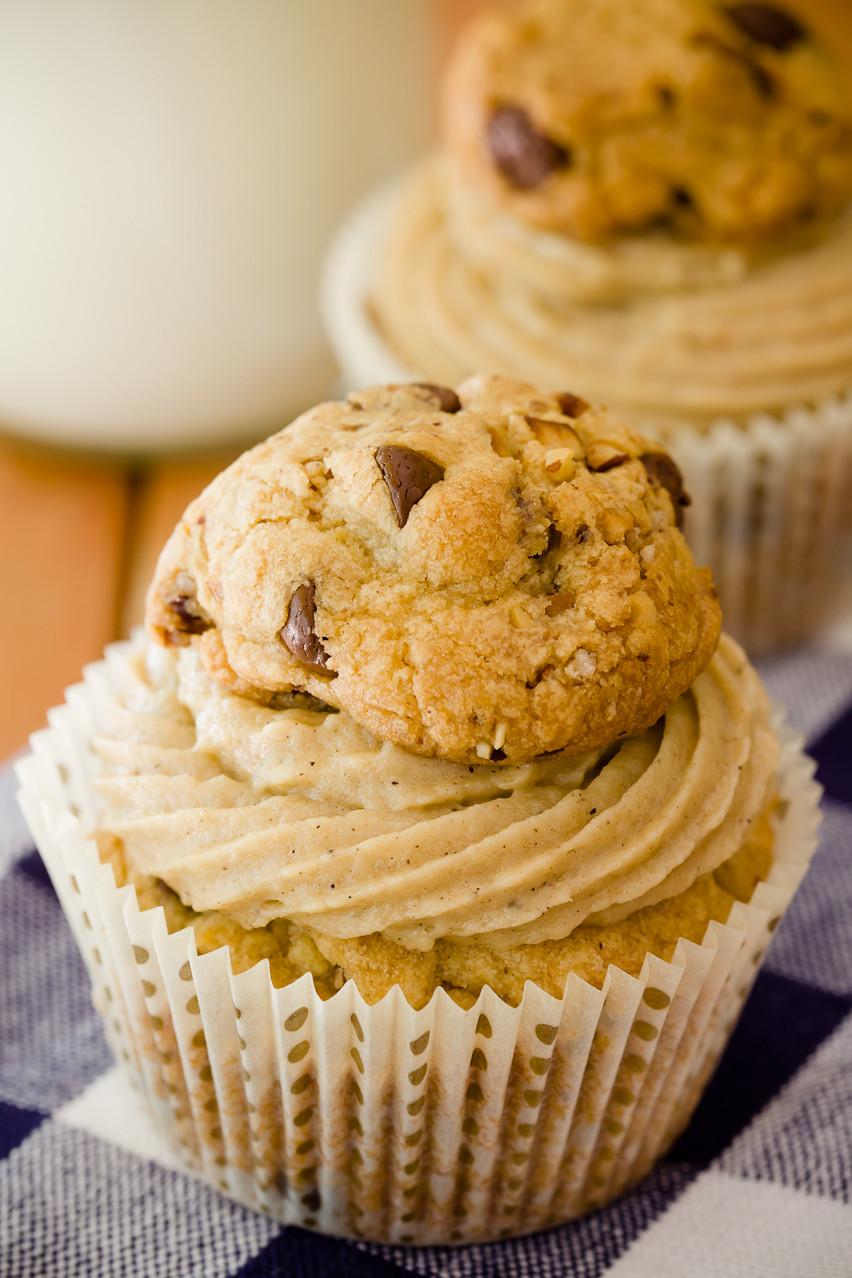 Chocolate Chip Cupcakes  Chocolate Chip Cookie Cupcakes